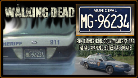 Walking Dead License Plate