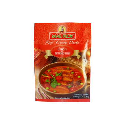 Mae Ploy Thai Red Curry Paste 50g - Asian Pantry Delivery | Asian Alley Delivery,