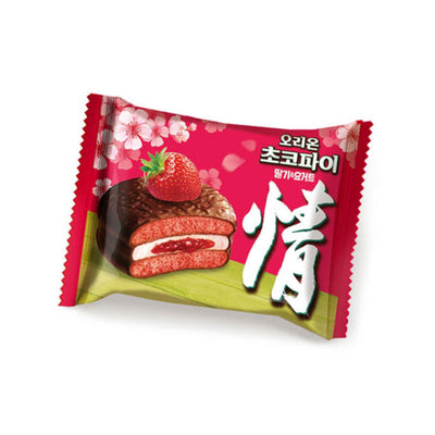 Orion Choco Pie (Strawberry Flavour) 34g X 12 packs - Asian Pantry Delivery | Asian Alley Delivery,