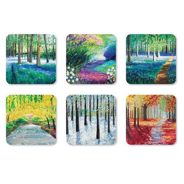 Janet Bell Woodland Coasters