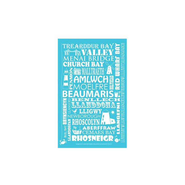 Blue Anglesey Tea Towel