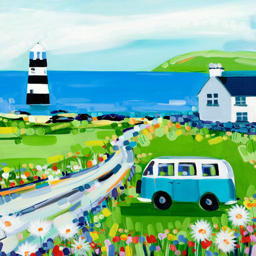 Picnic at the Lighthouse by Janet Bell
