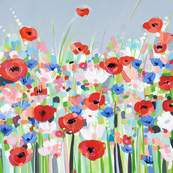 Cornflowers and Poppies by Janet Bell