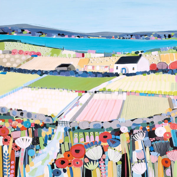 Patchwork Fields by Janet Bell