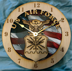 "10"" Air Force Wall Clock"