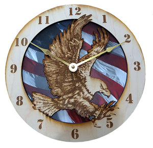 "10"" Attack Eagle wall Clock"