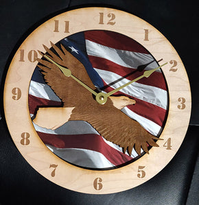 "10"" Soaring Eagle Wall Clock"