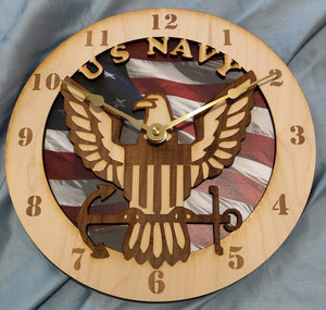 "10"" U.S. Navy wall clock"