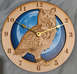 "10"" Owl Wall Clock"