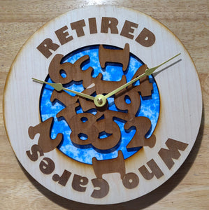 "10"" Retired Wall Clock"