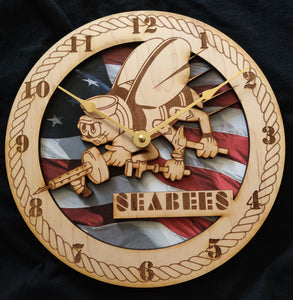 "US Navy 10"" SeeBees Wall Clock"