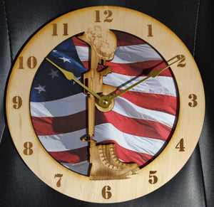 "10""Soldier's Cross Wall Clock"