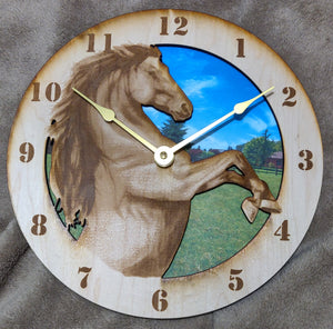 "10"" Stallion Wall Clock"