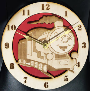 "10"" Smiling Train Wall Clock"