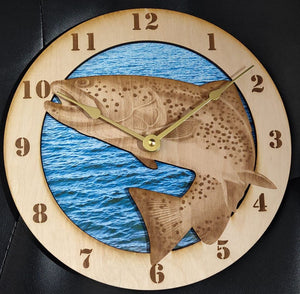 "10"" Trout Wall Clock"