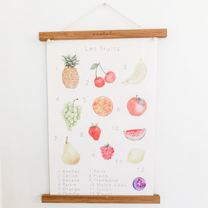 "Affiche éducative & décorative ""Fruits"""