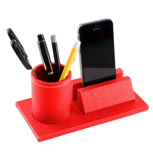 Load image into Gallery viewer, Desk Organiser Combo - Mobile Holder & Round Pen Cup