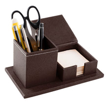 Load image into Gallery viewer, Desk Organiser Combo - Square Pen Cup & Slip Holder
