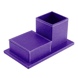 Desk Organiser Combo - Square Pen Cup & Slip Holder
