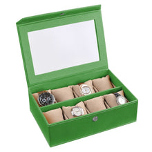 Load image into Gallery viewer, Watch Box ( 8 Watches With Pillow) Plain Colour
