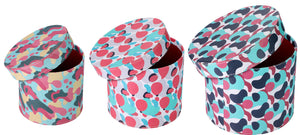 Stones Design Multicolour Round Boxes