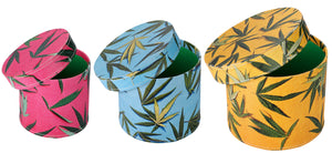 Leaf Design Round Boxes