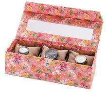 Load image into Gallery viewer, 3 Watch Box ( With Pillow) Floral