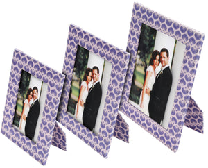 Shell Pattern Photo Frames
