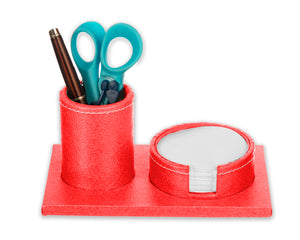 Eco Friendly Desktop Gift Round Pen Holder with Round Slip Holder