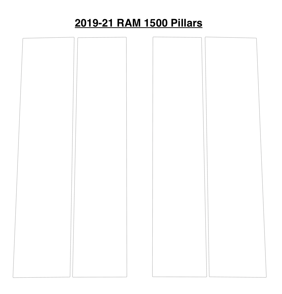 RAM 1500 Window Pillar Kit