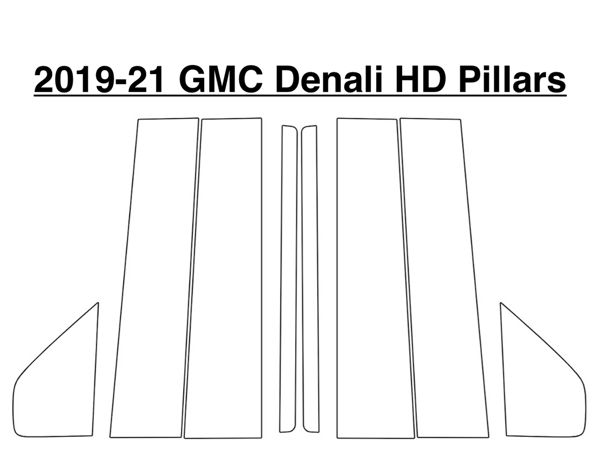 GMC Denali HD Window Pillar Kit