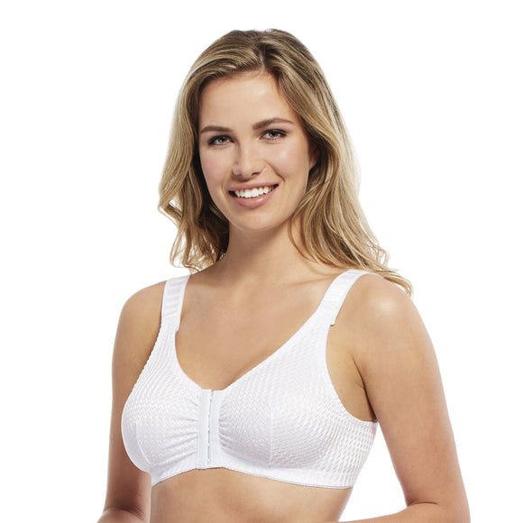 Carole Martin Front Adjustable Comfort Bra  - White