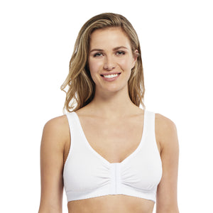 Carole Martin Full Freedom Front Closure Cotton Comfort Bra - Cafe