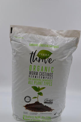 Worm Castings-Terra Thrive- 10 Quarts