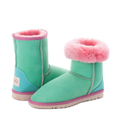 Two Tone Short UGG Boots