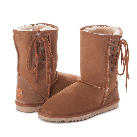 Short Ugg Lace Up Boots