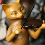 Statuette Chat</br> Musiciens