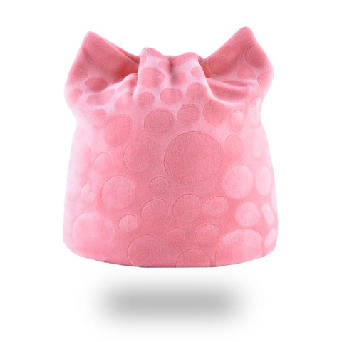 Bonnet rose oreille de chat