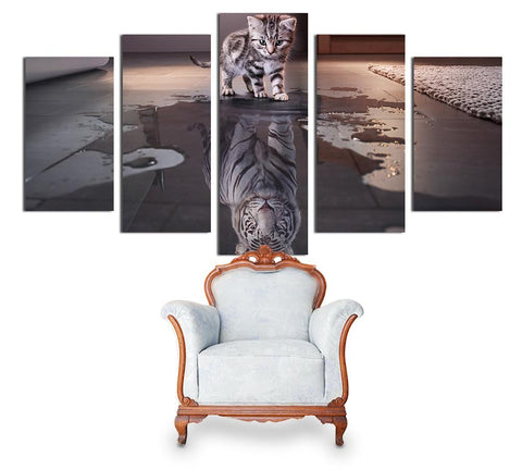Tableau chat reflet tigre