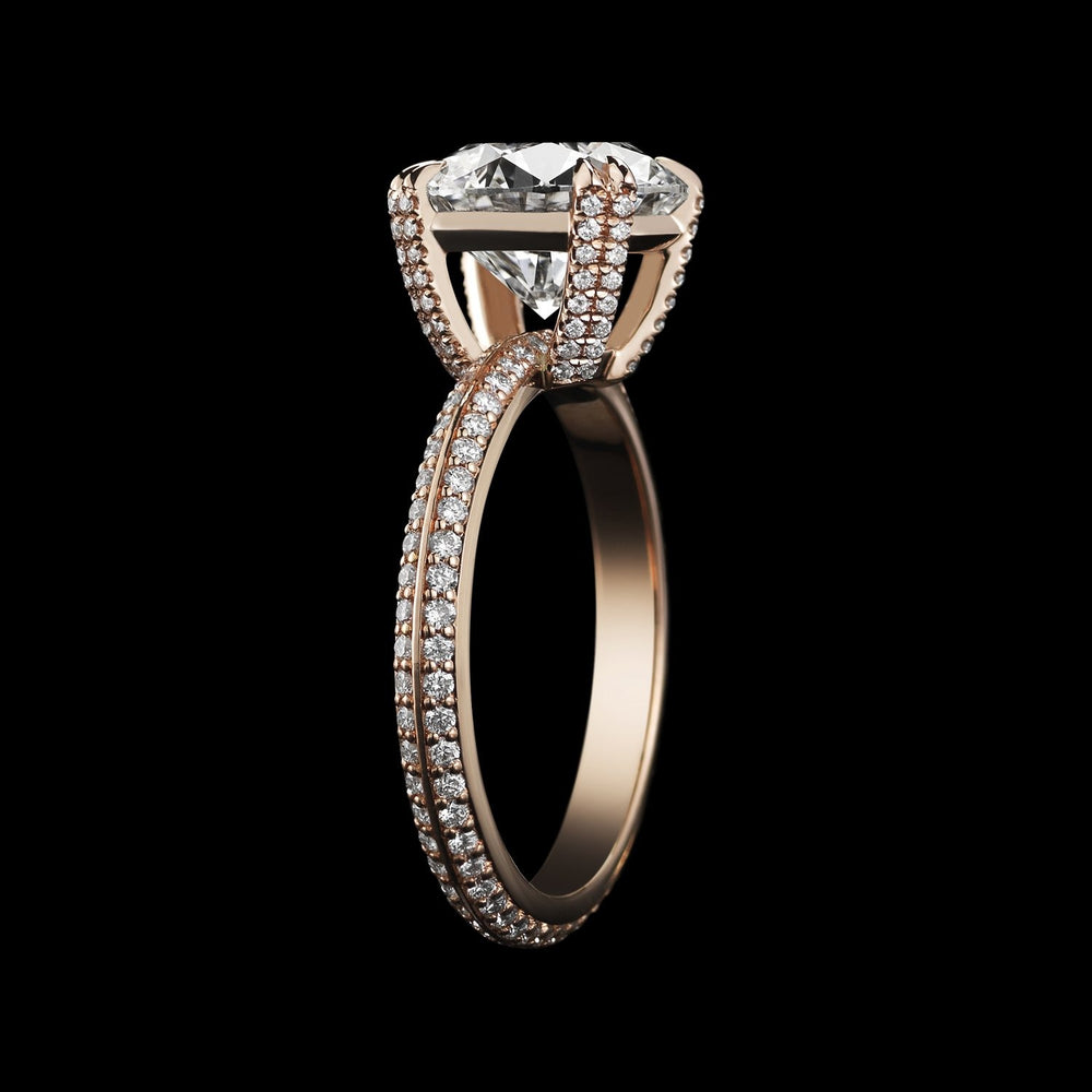 Rose Gold Brilliant-Cut Diamond Engagement Ring