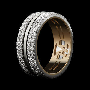Load image into Gallery viewer, Knife-Edged Diamond Eternity Band - Alexandra Mor online