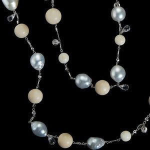 Tagua & South Sea Artisanal Farm Pearls and Bead Sautoir Necklace - Alexandra Mor online