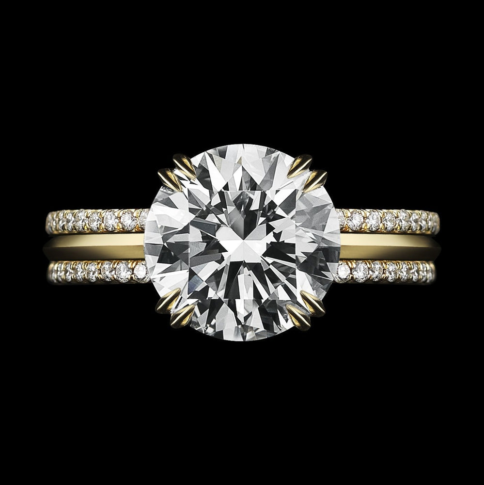 Load image into Gallery viewer, Brilliant-Cut Diamond & Yellow Gold Three Ring Sets - Alexandra Mor online