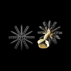 Load image into Gallery viewer, Signature Black Diamond Snowflake Cufflinks - Alexandra Mor online