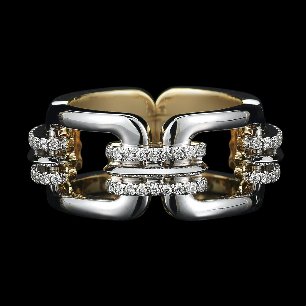 Load image into Gallery viewer, Flexible Chain-Link & Diamond Ring