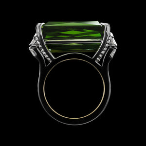 Demi Moore As Seen Wearing Emerald-Cut Green Tourmaline & Diamond Ring - Alexandra Mor online