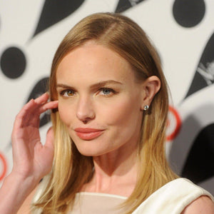 Kate Bosworth As Seen Wearing Round Diamond Studs with Diamond Earring Jackets