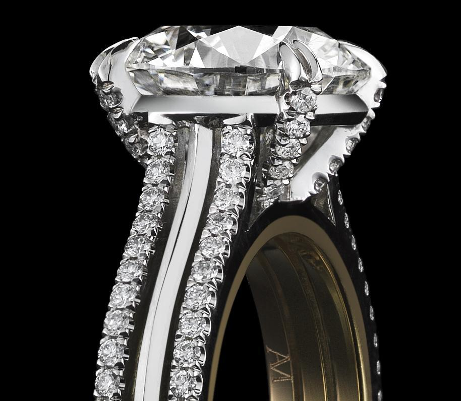 Load image into Gallery viewer, Diamond Ring Round Brilliant-Cut