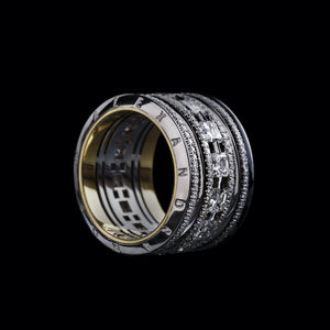 Load image into Gallery viewer, Platinum Signature Asscher-Cut Diamond Wide Eternity Band Ring