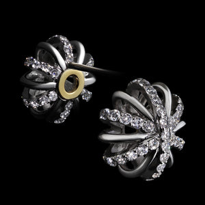 Medium Diamond Snowflake Stud Earrings - Alexandra Mor online